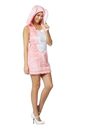 Kostüm Hasen Rosa - Damen Kostüm sexy Kleid Hase in rosa Karneval Fasching Gr.38