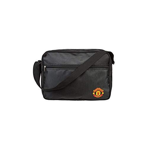 Crest Messenger (Manchester United Football Club Official Black Messenger Shoulder Bag Badge Crest)