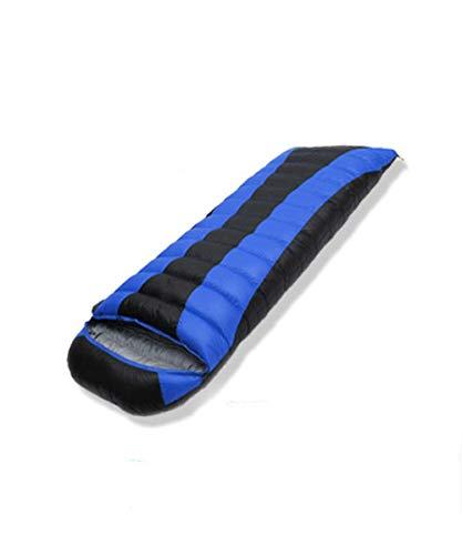 TAHRH Mumienschlafsack,Outdoor-Wanderschlafsack, kann genäht Werden, weiße Gänsedaunen Vier Jahreszeiten universal @ Sapphire_Blue_800g_Goose_down -