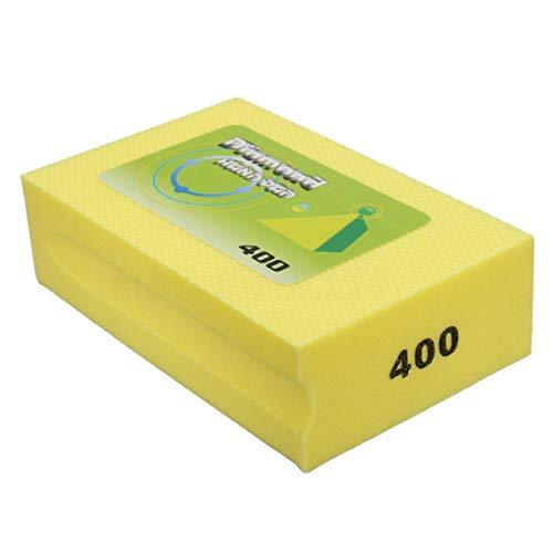 Diamond Handpads Maso 60-3000 Körnung Schaumstoff Schleifen Diamant Handschleifpads galvanisiert Diamant Hand Polierpads für Stein Glas Keramik Marmor Granit, gelb