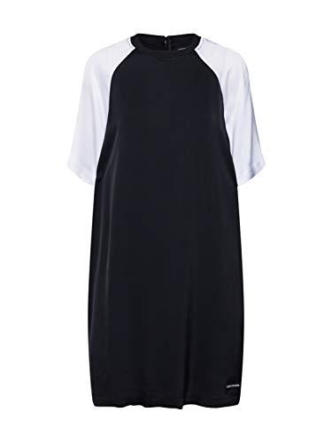Calvin Klein Jeans Damen Kleid Color Block T Shirt Dress weiß XS (34) -