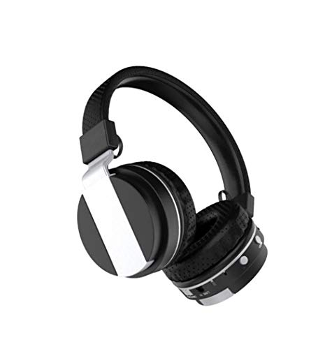 Faltbare über Ohr Bluetooth 4.0 Wireless Stereo Kopfhörer Hands Free Music Player Support TF Card mit UKW-Radio, eingebautem Mikrofon und 3,5mm Audio,Black