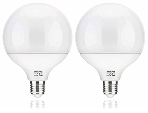 REPSN G120 E27 16 W LED Leuchtmittel, entspricht 150 W Halogenlampen, 270 ° Abstrahlwinkel LED Glühlampen, nicht dimmbar, 2 Stück, plastik, Daylight 4000k-4500k, 2, E27 240.00volts - Tisch-lampe 150w