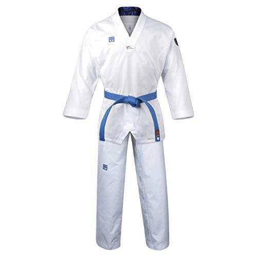 Mooto Korea Taekwondo Extera S6 Uniform mit weißem V-Ausschnitt für Wettkampfspiele Dobok TKD Martial Arts MMA Judo Karate Hapkido (190(Height: 190~199cm)(6.23~6.53ft)) (Martial-arts-uniform V-ausschnitt)