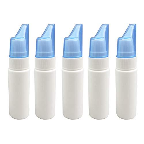 HEALLILY Spruzzatore Bottiglia Pompa Spruzzo Nasale Vuoto in Plastica 5pcs 70ml