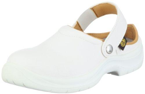 Sir Safety ESD Schuh Omega EN 61340-5-1 und EN ISO 20345 SBEA 26071401, Unisex - Erwachsene Clogs & Pantoletten, Weiss (Weiss 401), EU 46