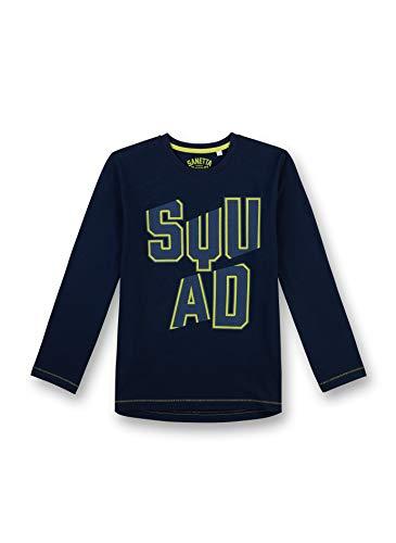 Sanetta Jungen 3/4 Schlafanzugoberteil Shirt 244466, Gr. 164, Blau (Classic Blue 5968)