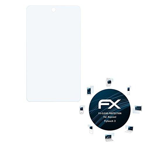 Anycool Flytouch 3 Schutzfolie - 2 x atFoliX FX-Clear kristallklare Folie Displayschutzfolie