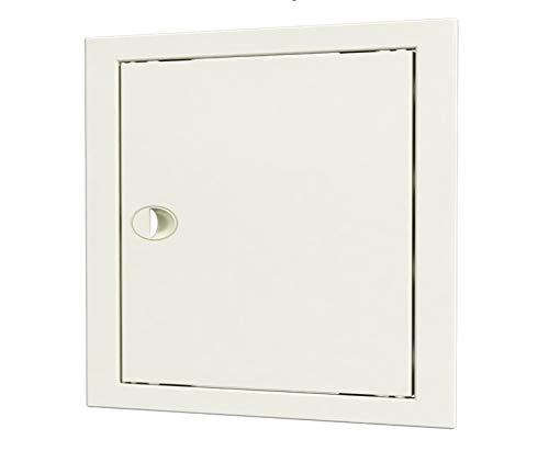 Revisionsklappe mit Handgriff, Revisionstür, Inspektionstür, Zugangstür (40x40cm, Weiß)