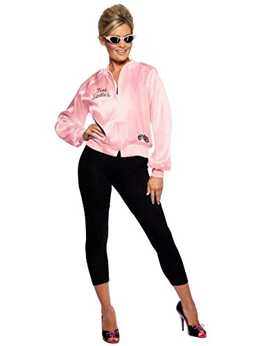 Smiffy'S 28385Xs Cazadora De Las Pink Ladies De Grease Con Logotipo Bordado,...