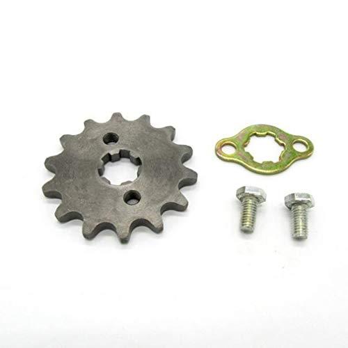 DERNON 14 Teeth Front Sprocket & Washer 420 17mm Inner Pit Dirt Quad Bike Race Gray -