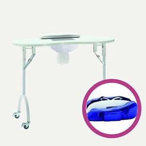 table manucure pliante avec aspirateur int gr coussin et. Black Bedroom Furniture Sets. Home Design Ideas