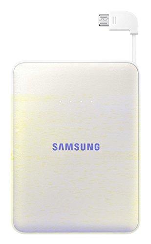 Samsung 8400 mAh Tragbarer Externer Akku Pack Powerbank USB Ladegerät Hochleistung Premium Qualität Wiederaufladbar, weiß