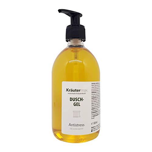 Anti-Stress-Dusch-Gel 1 x 500 ml - auch Anti-Stress-Dusche - Anti-Stress-Geschenk - Duschbad mit Zitronenöl, Aloevera, Brennnesselextrakt, Weizenextrakt und Meersalz