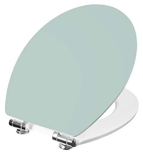 Cornat WC-Sitz Vorea - Schlichter Look in mint-grün - Hochwertiger Holzkern - Absenkautomatik - Komfortables Sitzgefühl - Unifarbenes Design / Toilettensitz / Klodeckel / KSVOSC95 -