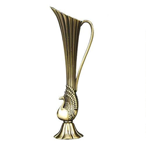 Vase Créatif Arrangement Décorations pour La Maison Alliage Petit Accueil Européenne Moderne (Couleur : A)