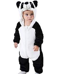 Traje de Franela Encapuchado para Bebé Recién Nacido Ropa Mameluco Pelele  con Capucha Niños Niñas Pijama 326896a864a