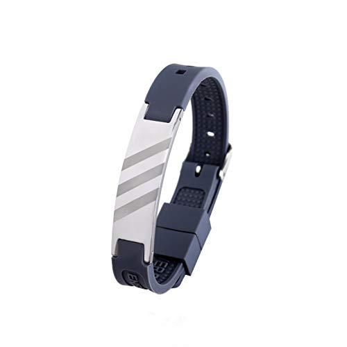 3030 Energy Bracelet Positive Ion Power Band PRO ION Silikon Magnetarmband dunkelgrau 3 Stripes TRINITIX Design Energetix 4you 15-23 cm