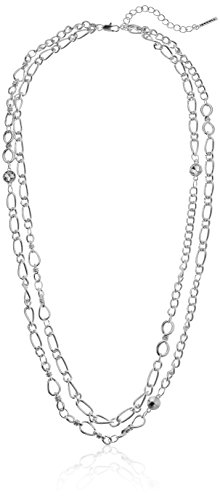 t-tahari-double-strand-silver-chain-necklace