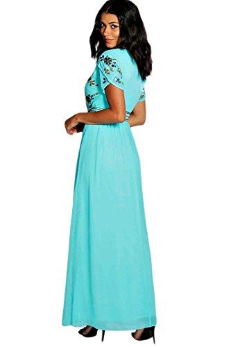 Schwarz Callie Boutique Embellished Chiffon Maxi Dress Schwarz