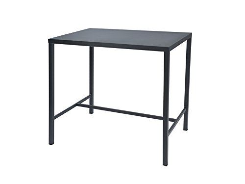 Set tavolo alto bar con sgabelli metallo bianco da