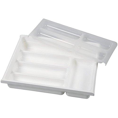 Buchsteiner BS3332mit 9Fächern weiß Kunststoff Besteckkasten 15x 15x 10cm