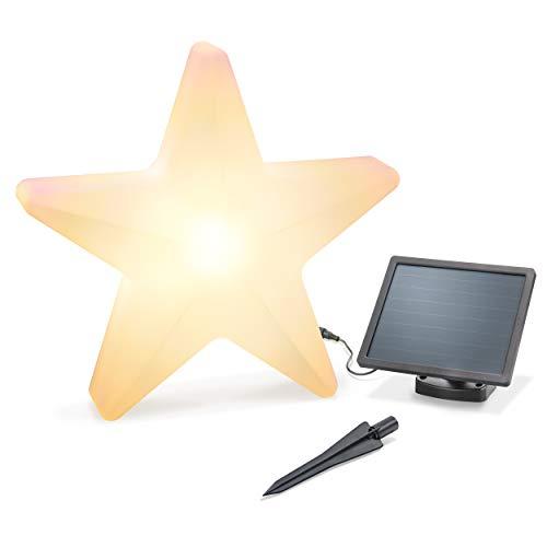 Dekorativer Solar Leuchtstern - Durchmesser ca. 60cm - Lichtfarbe zwischen warmweiß & kaltweiß umschaltbar - Dauerlicht - extragroßes 2W Solarmodul - Weihnachtsdeko Winterdeko esotec 102121