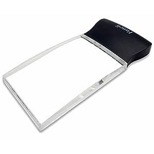 Fancii LED 2X großes rechteckiges Leselupe Handlupe mit Licht – 102 x 58 mm randlose unverzerrte Lupe mit Beleuchtung geeignet für Senioren, zum lesen von Büchern, Magazinen, Zeitungen und Landkarten