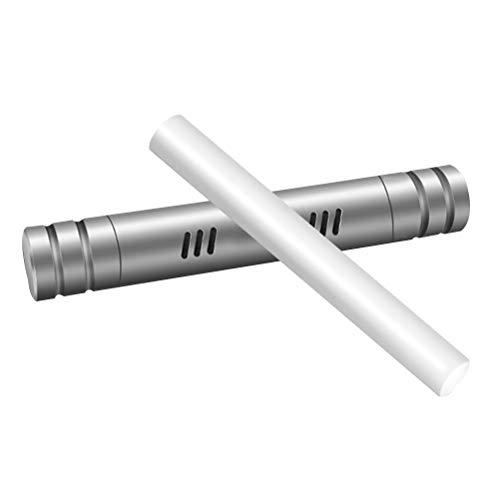 Vosarea Auto Aromatherapy Stick Duftdiffusor Auto Air Vent Lufterfrischer Parfüm Ätherisches Öl Diffusor Silikon Vent Clip mit 1 Ersatz-Sticks für Aromatherapie (Silber) -