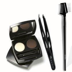 Avon Eyebrow Kit Includes Slanted Tweezers, Dark Brown Perfect Eyebrow Kit and Brow and Lash Comb