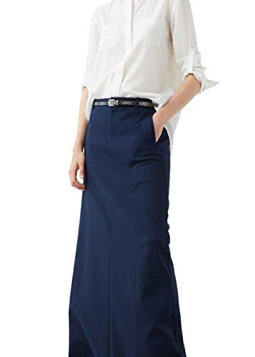 mango-snake-belt-long-skirt-size12-colornavy