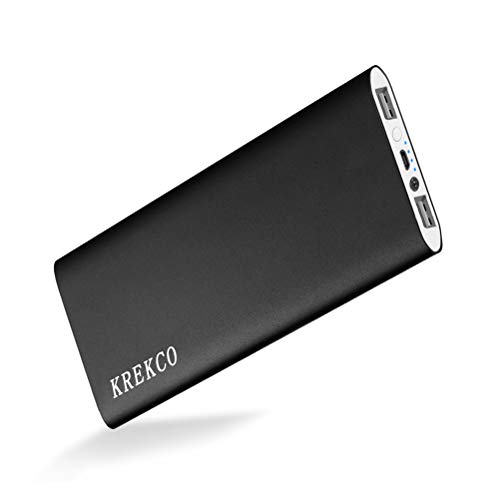 Krekco power bank 20000mah caricatore portatile batteria esterna alta capacità ultra sottile torce a led caricabatterie compatibile con cellulare phone & tablet pc, dispositivi