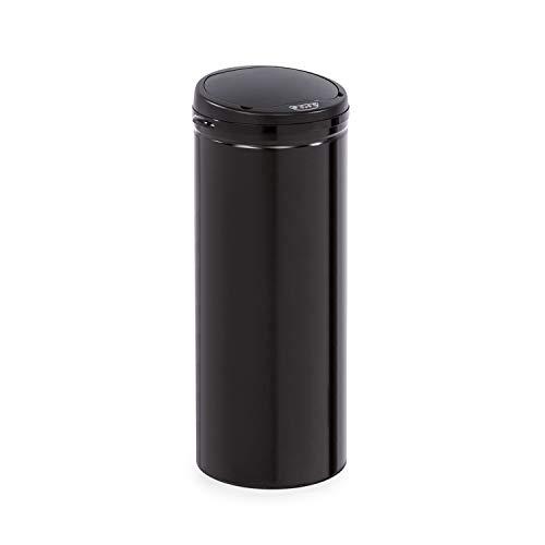 Klarstein Cleanton cubo de basura con sensor - 50 litros de volumen, redondo, sin tocarlo: apertura...