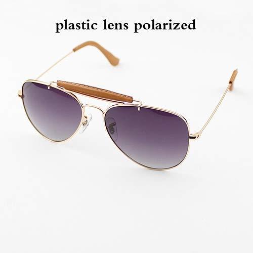 GAOHAITAO Outdoorsman Craft Aviation Sunglasses Women Men 58Mm Pilot Gradient Glass Lens Glasses Mirror Polarized Uv400,Gradient Gray P