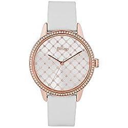 Uhr Rosé Damen rwro01Quarz (Batterie) Stahl Quandrante weiß Armband Leder