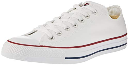 Converse Chuck Taylor All Star Season Ox, Zapatillas de Tela Unisex Adulto, Blanco, 36 EU