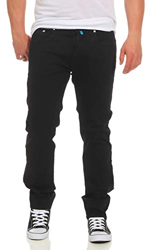 Pierre Cardin Herren Jeans Lyon Hose Tapered Future Flex Super Stretch Premium 3451 schwarz W44 L32 -