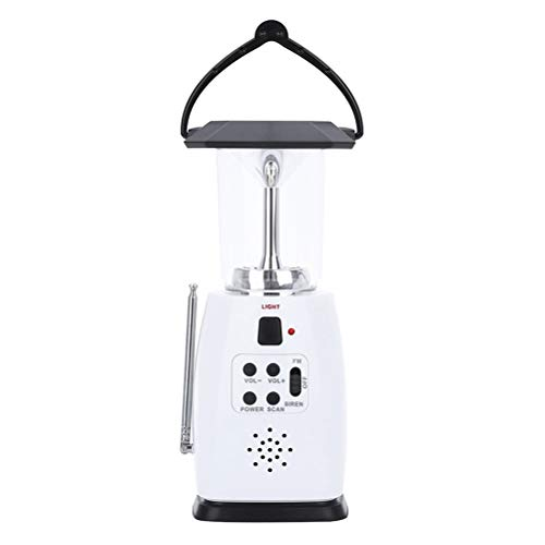 Emergency Lantern (Weesey FM Radio, Portable Hand Crank 8 LED Lanterns Flash Light with Radio Emergency Light Solar Power Lamp for Hiking Camping Fishing)