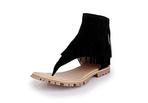 Beauqueen Estate Tassel Plain Scrub femminile cerniera pattini casuali Dimensioni speciali di donne dei sandali Europa 32-47 Green