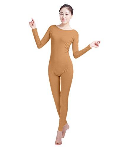 NiSeng Erwachsener und Kind Zentai Ganzkörperanzug Kostüm Ganzkörperanzug Fasching Bodysuit Kostüm Braun L