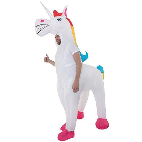 Costume Gonfiabile Adulto Di Unicorno Cavallo Magico Abbigliamento Uomo E Donna
