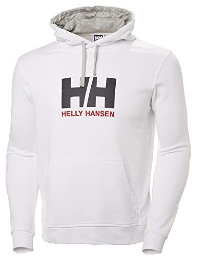 Helly Hansen Herren Hh Logo Hoodie Kapuzenpullover, Weiß (Blanco 001), X-Large Logo Hoodie Weiß