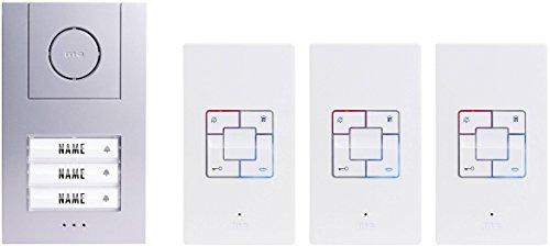 Indoor Komplett System (M-E - 40823 Audio-Gegensprechanlage für EIN DREI-Familien-Haus, Komplett-Set von Vistus AD-4030. 211159)