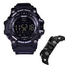 Torus Pro montre de sport pour homme Étanche jusqu'à 50 metres Fitness tracker d'activité podomètre avec compteur de calories et chronomètre