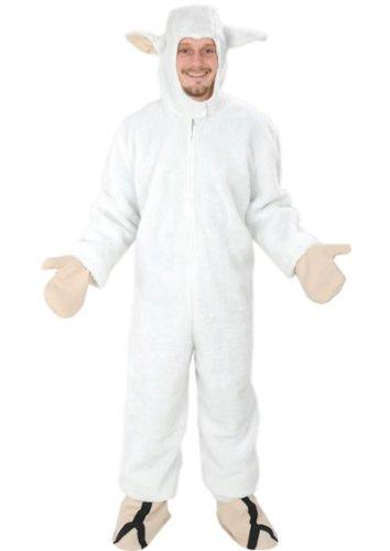 SCHAF WEISS OFFEN GR. M - L - (XL) KOSTÜM FASCHING KARNEVAL FASTNACHT (Für Schaf Erwachsene Kostüm)