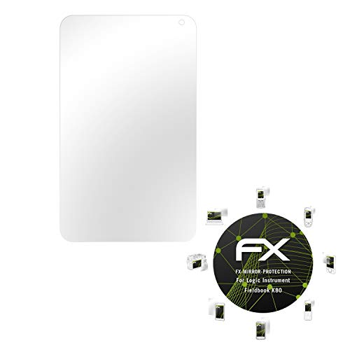 atFolix Displayfolie für Logic Instrument Fieldbook K80 Spiegelfolie, Spiegeleffekt FX Schutzfolie