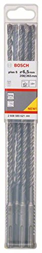 BOSCH 2 608 585 621  - BROCAS PARA MARTILLOS PERFORADORES SDS-PLUS-5 - 6 5 X 200 X 265 MM (PACK DE 10)
