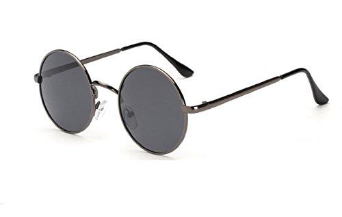 (nero) occhiali da sole hippie rotondi modello jhon lennon uomo donna unisex polarizzati uv400