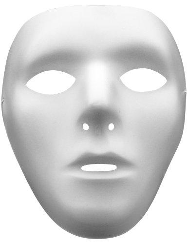 (Smartfox Maske Male - Weiß - Fasching Halloween Party Geburtstag Kostüm Karneval Theater)
