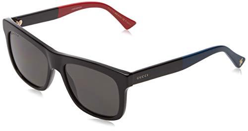 Gucci Unisex-Erwachsene GG0158S 003 Sonnenbrille, Schwarz (3/Grey), 54